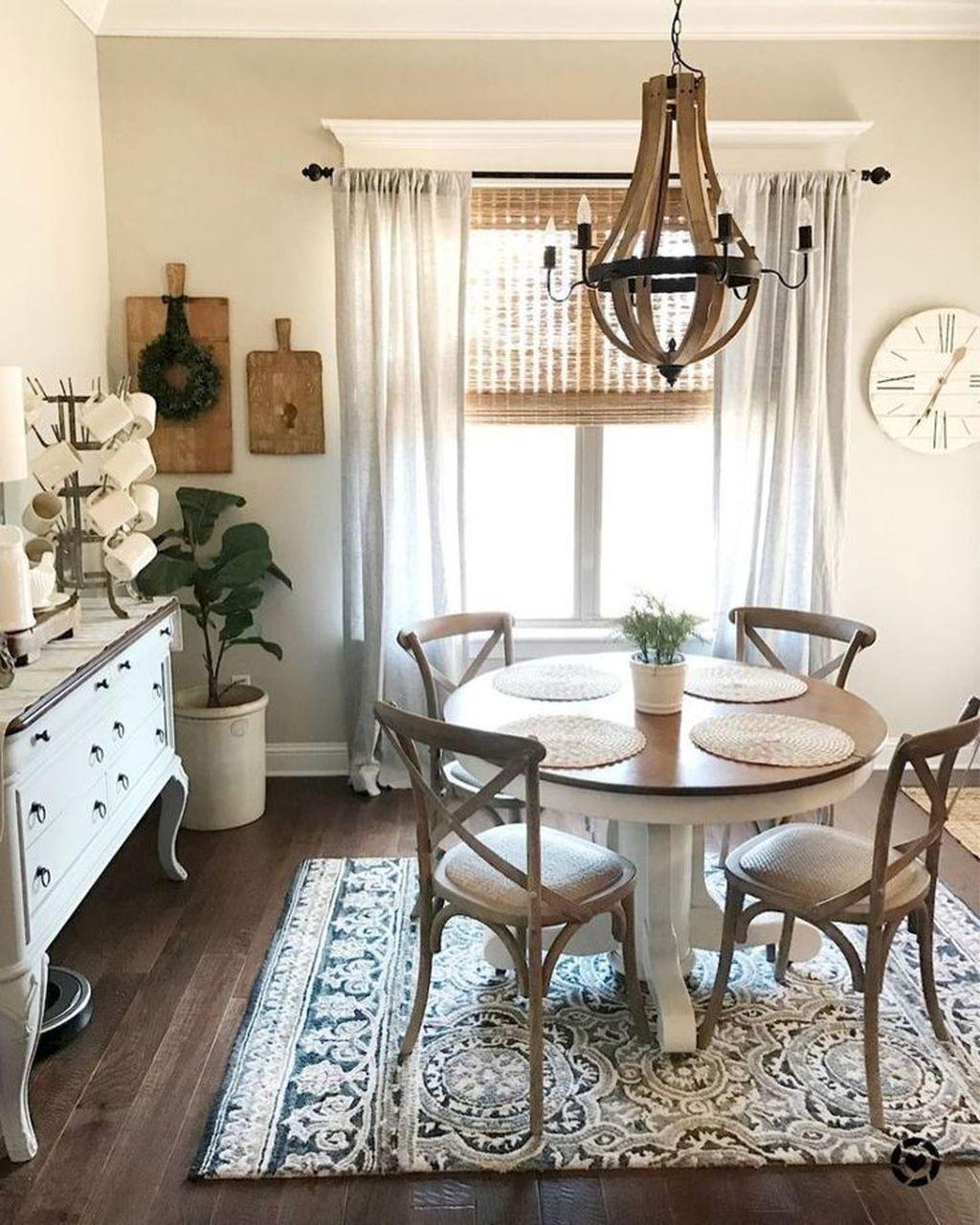 35 Cool Farmhouse Dining Room Design Ideas Dining Room