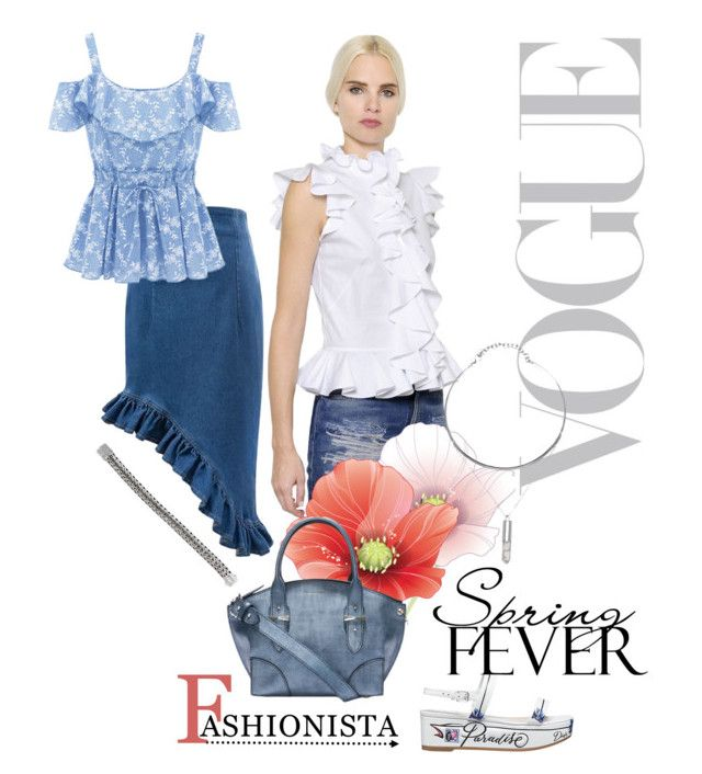 """""""Spring trend of ruffles adds romance to denim"""" by linda-caricofe ❤ liked on Polyvore featuring Alexander McQueen and John Hardy"""