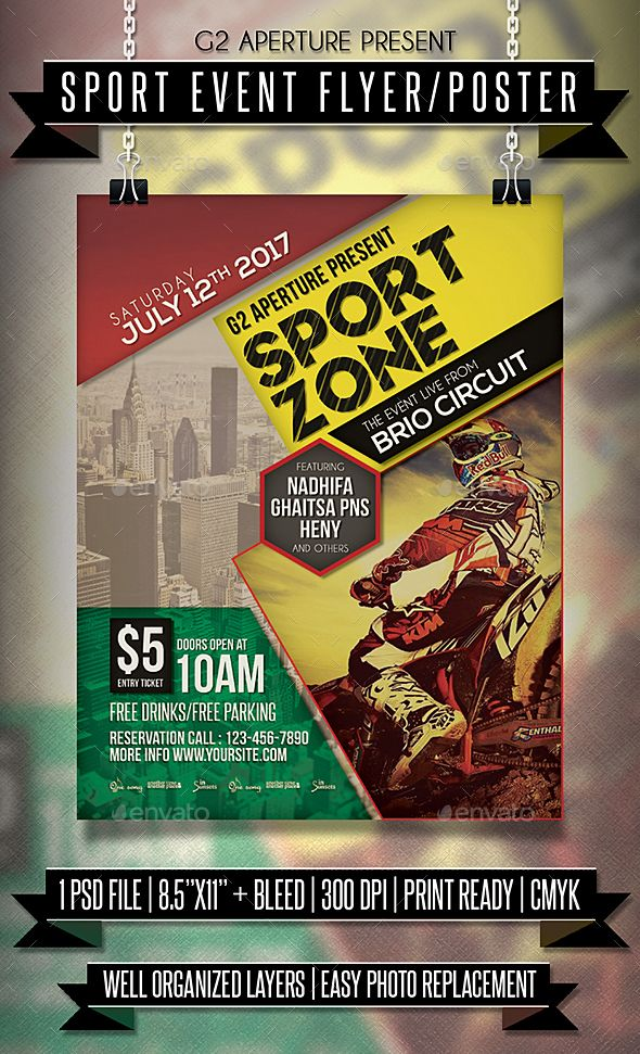 Sport Event Flyer \/ Poster Event flyers, Flyer template and - event flyer templates