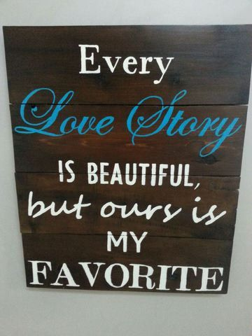 """Rustic """"Love Story"""" Home Decor Sign on Etsy, $55.00"""