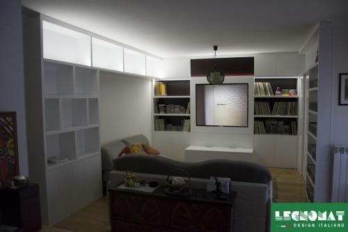 Parete Attrezzata soggiorno su Misura Roma - Legnomat Parete Attrezzata moderna, progettata e realizzata da Legnomat- Design Italiano  www.legnomat.it