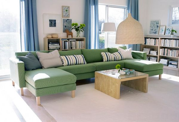 23 Stunning Green Sofa Living Room Home Design Lover Ikea Living Room Green Sofa Living Room Ikea Living Room Furniture