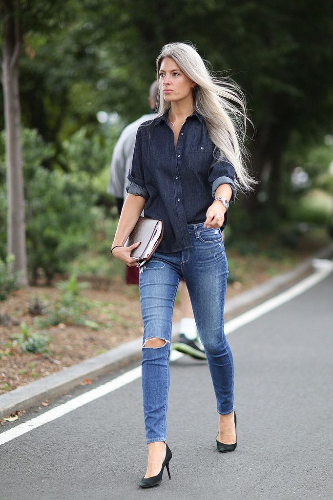 NYFW Street Style Day 6: Sarah Harris's Fashion Week look doesn't try too hard.