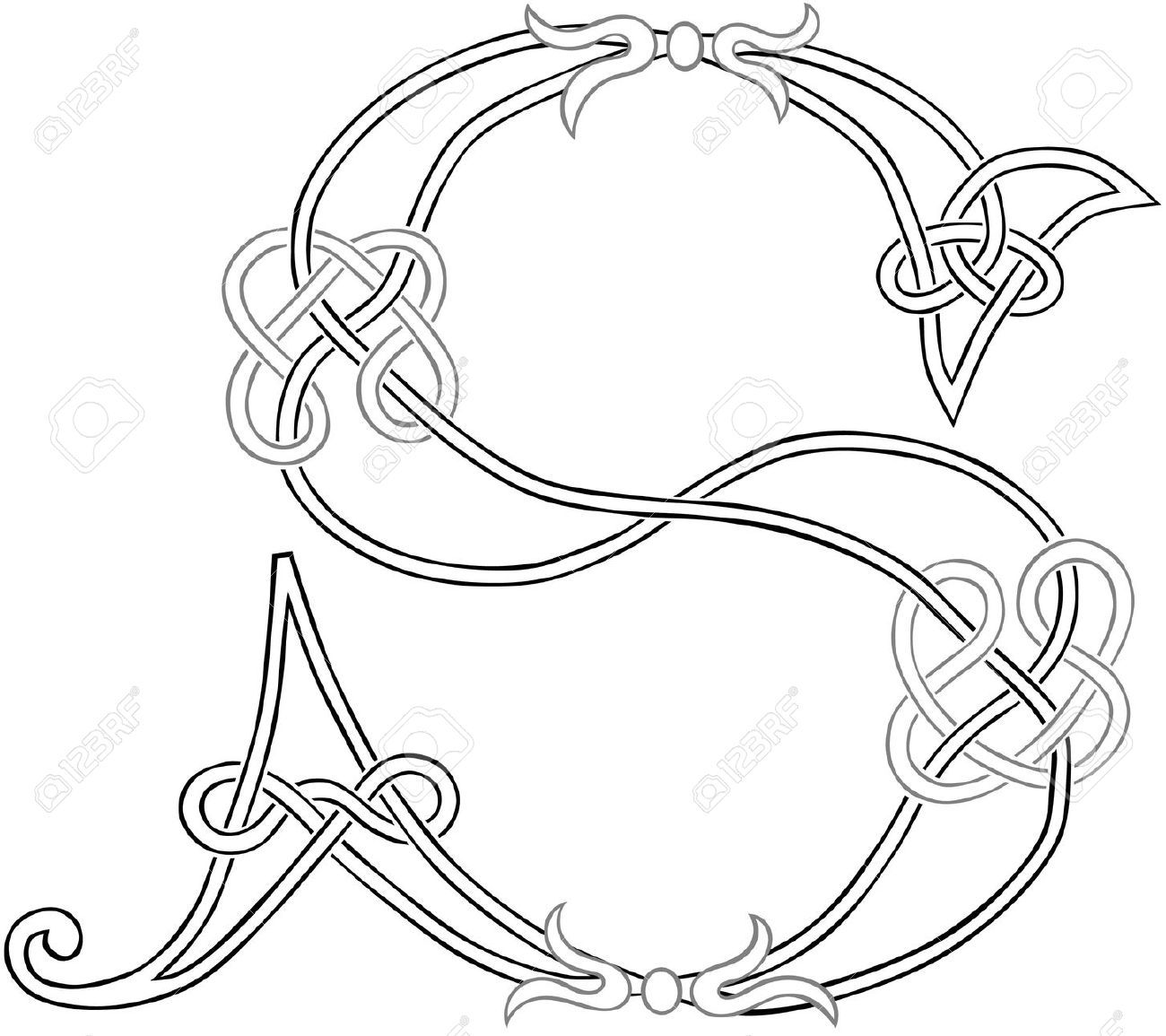 Monogram for Hand Embroidery: Celtic L - Buscar con Google | tattoos ...