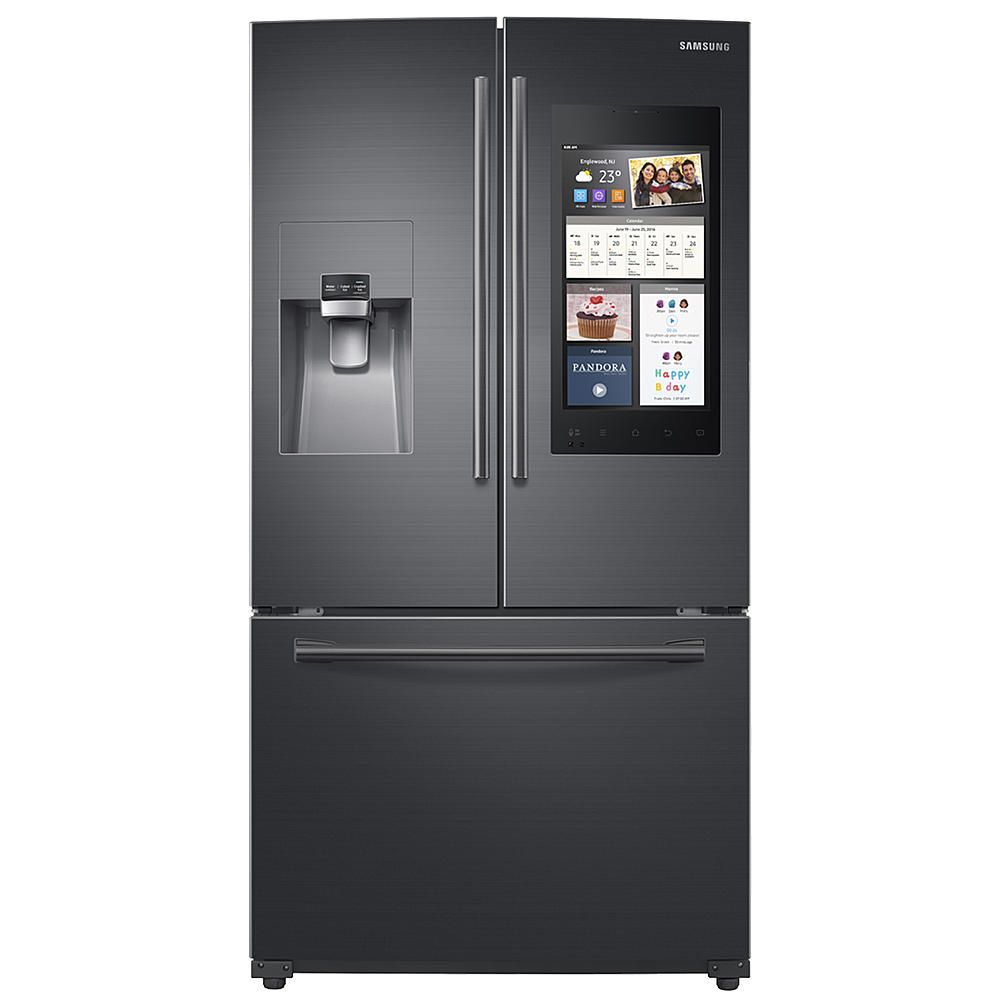 The Samsung black stainless steel 24 cu. ft. French door ...
