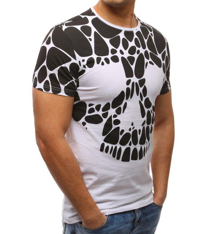 b60f81034f58 Pánske biele tričko s potlačou