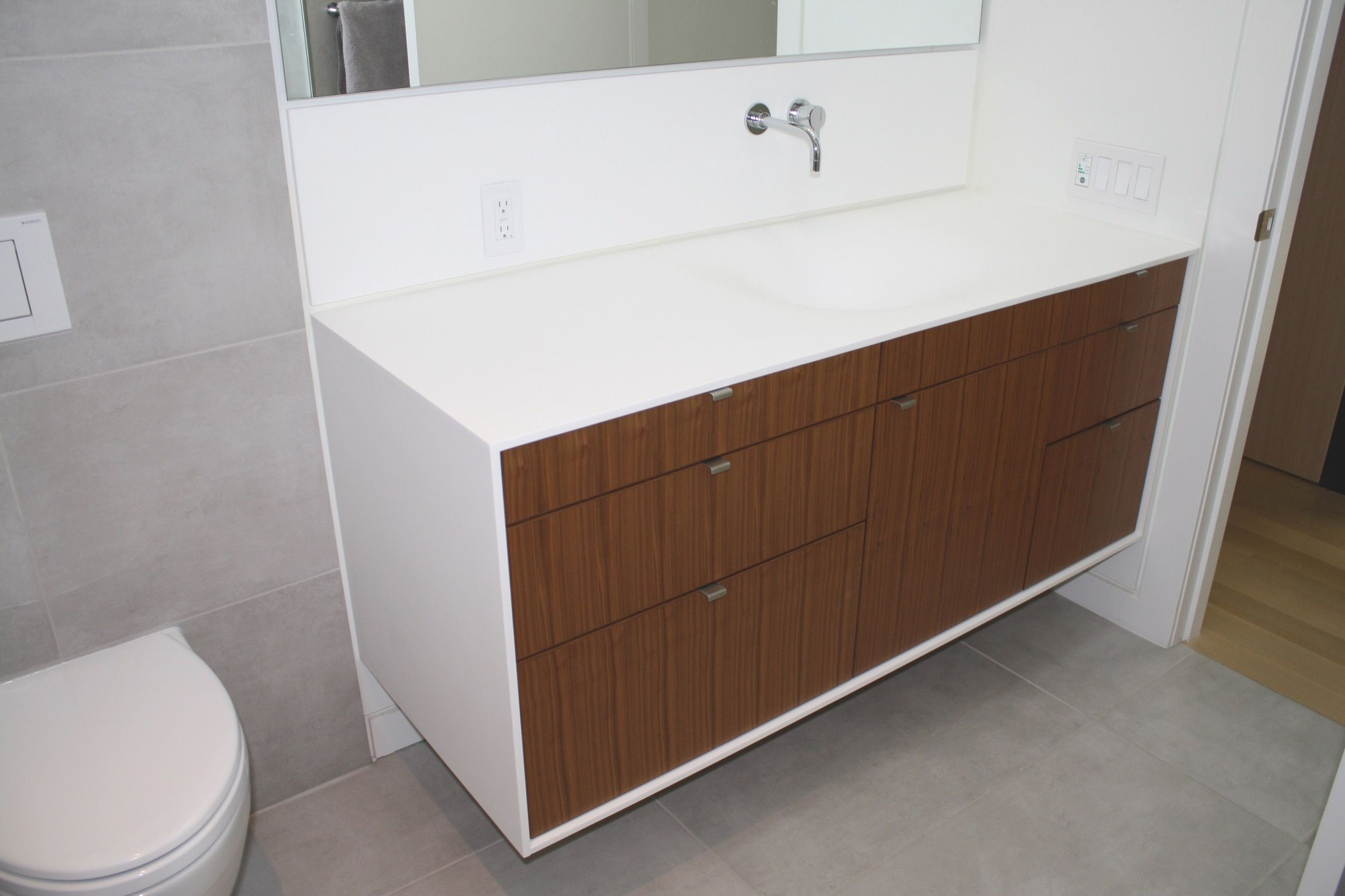 Merveilleux Vanishing   Custom Thermoformed Corian Sink In Glacier White Featured On  Two And Two Design