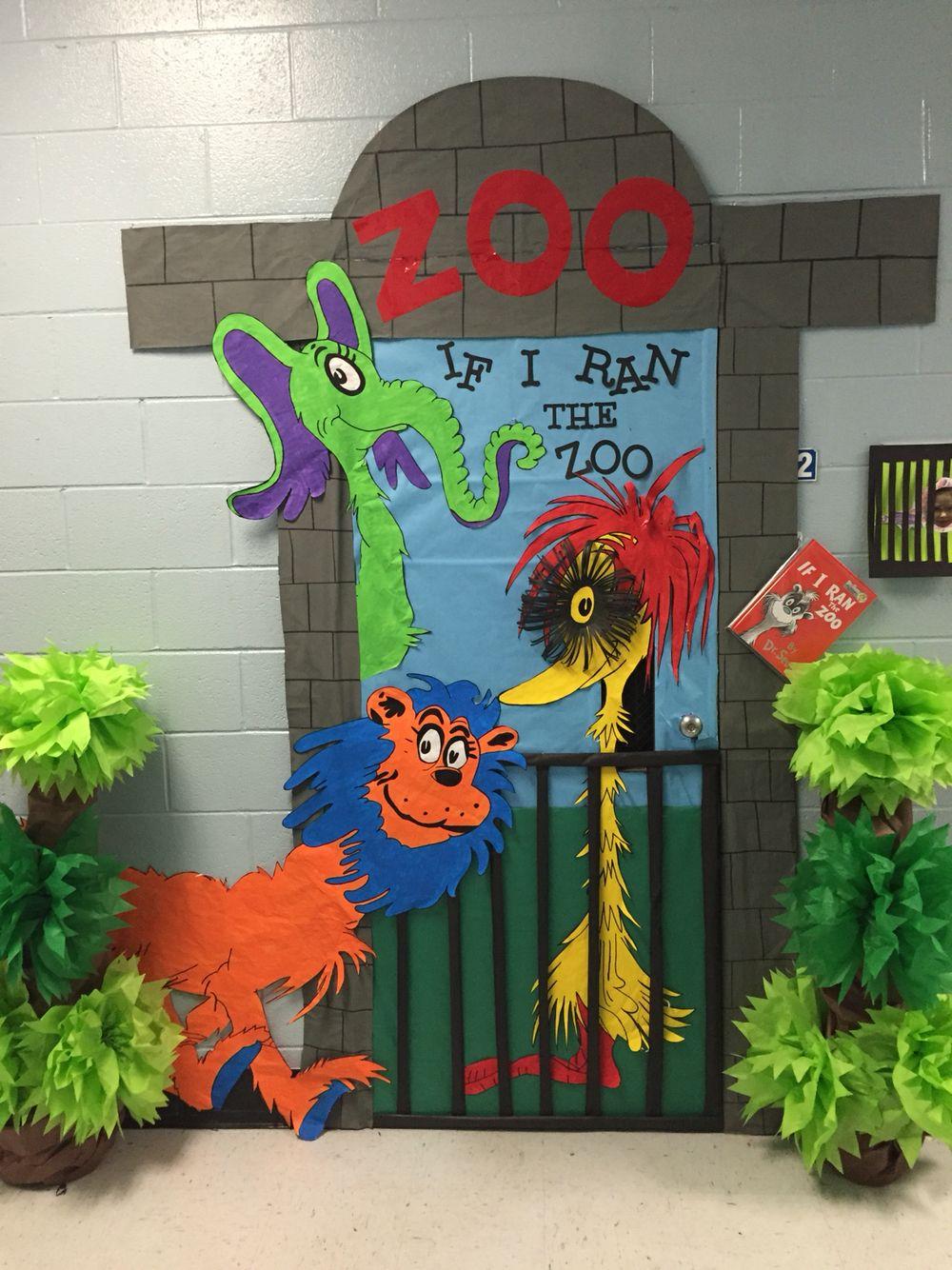 Classroom Zoo Ideas ~ If i ran the zoo door decorating pinterest zoos