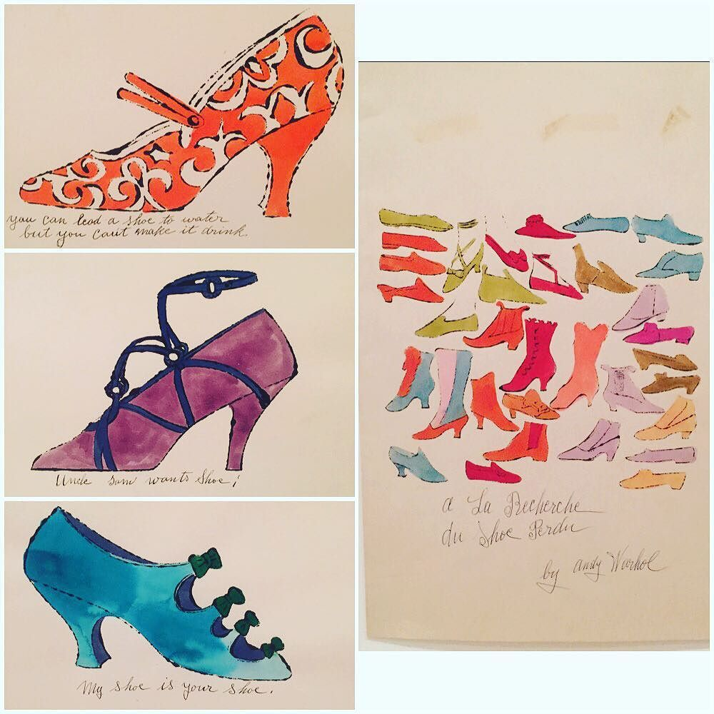 So our CIO (Chief Instagramming Officer) @khoooo took a little field trip to the MoMA in NYC and came back with shots of these lithographs by Andy Warhol. Apparently he was briefly in the shoe business doing illustrations for shoe manufacturer I. Miller to be published each week in the New York Times.  Enjoy! #newyork #nyc #moma #art #andywarhol #warhol #shoes #instashoes #igersnyc #simonsshoes #lithograph