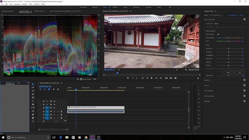 A Quick Tip To Correct White Balance In Adobe Premiere Pro Cc 2017