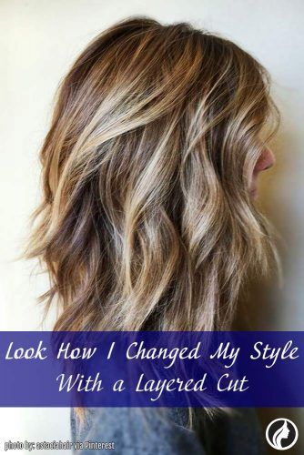 Changing Style with Long Layered Haircut