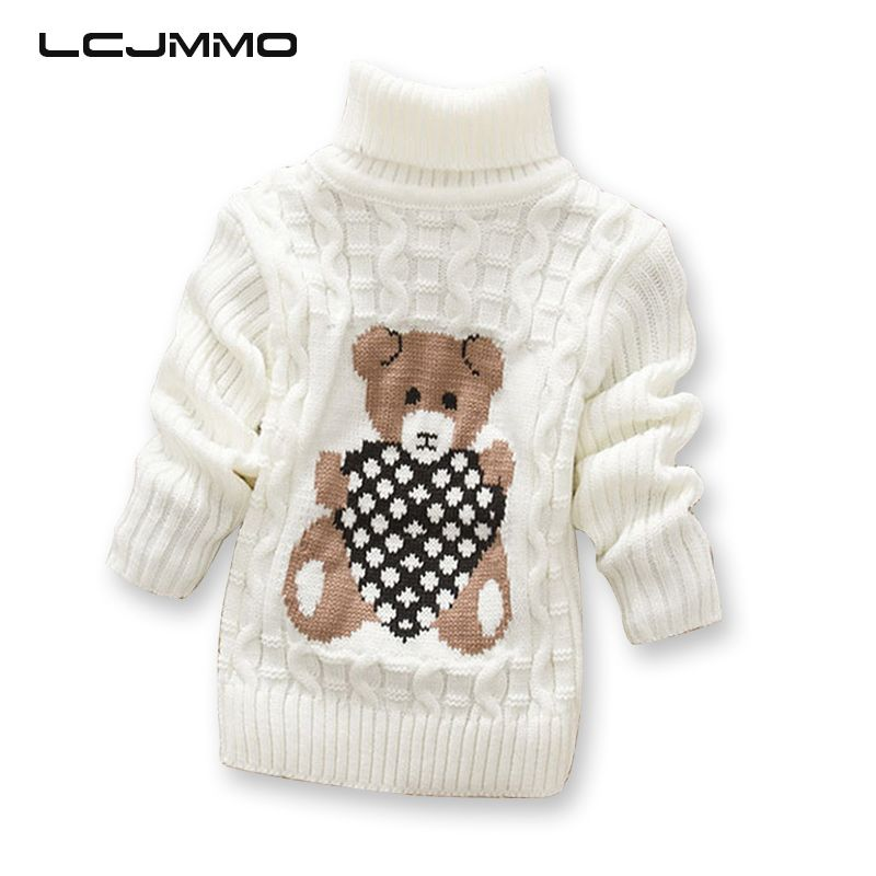 7e91f537cf75 LCJMMO Boys Girls Sweaters Autumn Winter 2017 Cartoon Turtleneck ...