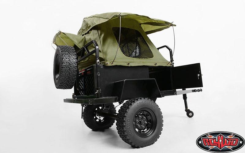 Z H0007 Rc4wd Bivouac 1 10 M O A B Camping Trailer W Tent Camping Trailer Moab Camping Camping