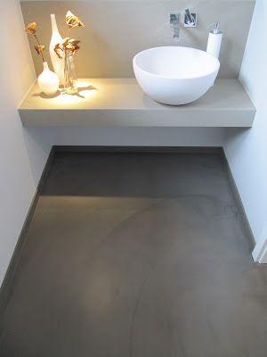 beton unique - beton cire #betonimprime wc/badkamer, beton