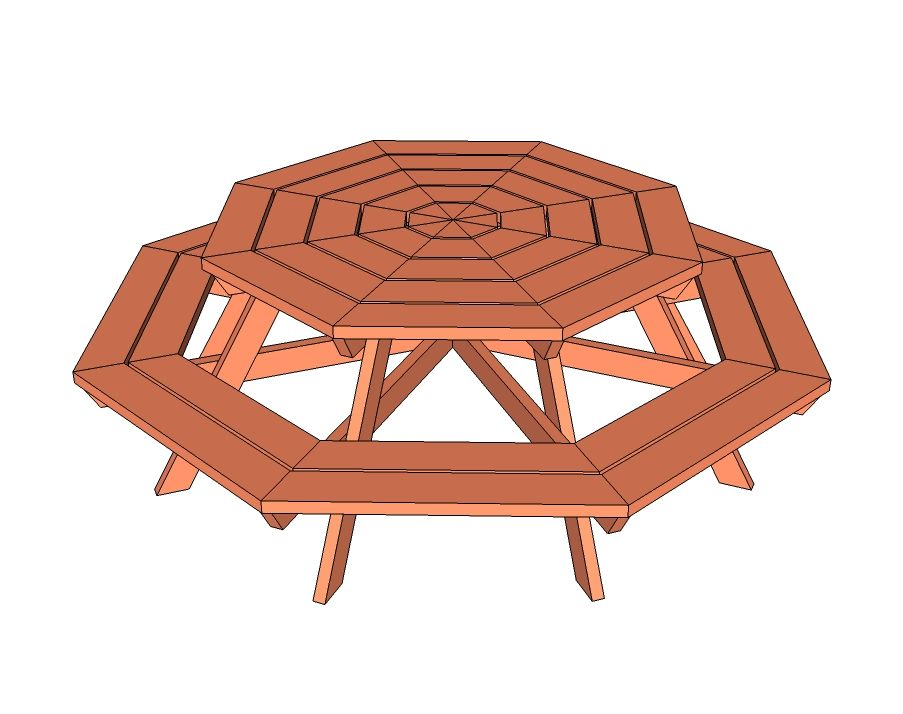 Ana white build a octagon picnic table free and easy diy project free picnic table plans to help you build a picnic table in just one weekend all of the free picnic table plans include instructions and blueprints watchthetrailerfo