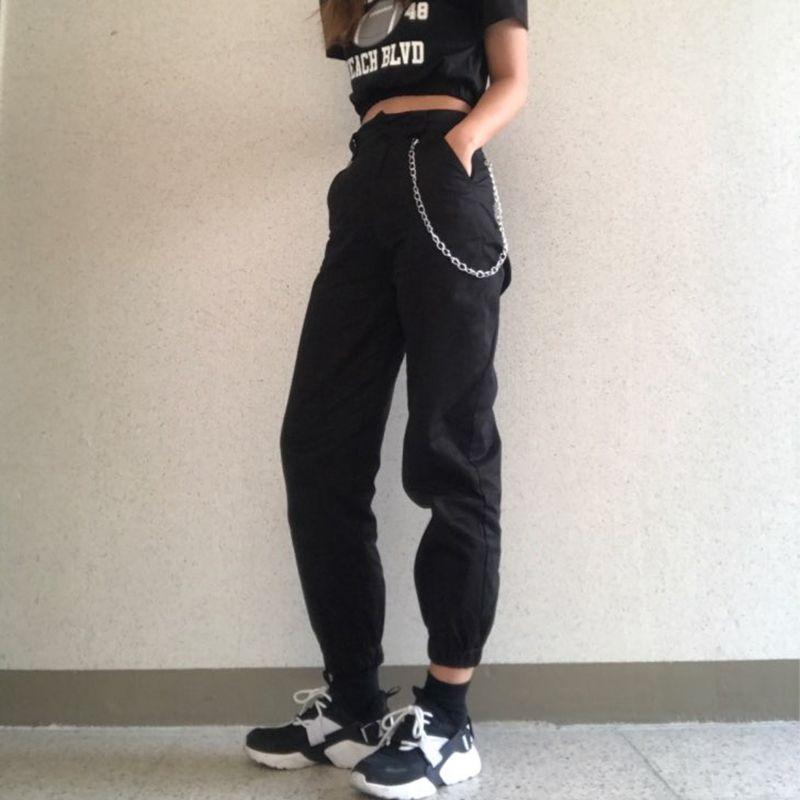8c39bbe40c88d High waist pants camouflage loose joggers women army harem camo pants  streetwear punk black cargo pants women capris trousers