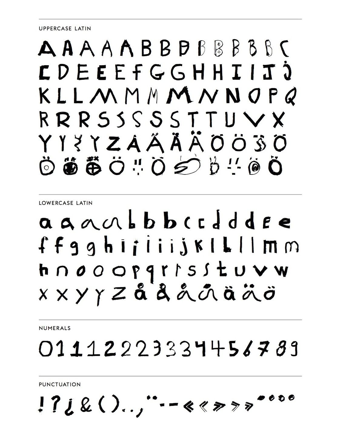 Character Map  Letters    Font  And Fonts