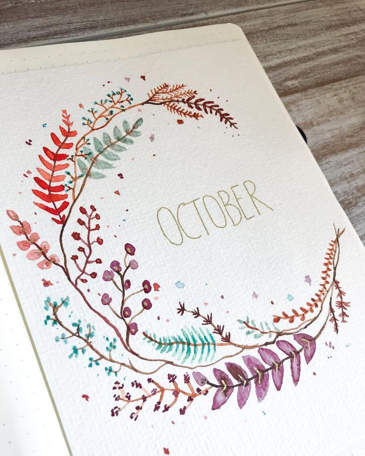 """Photo of Journal Buddy   Bullet Journal on Instagram: """"A full view of my october title page ???. . . . . . ."""