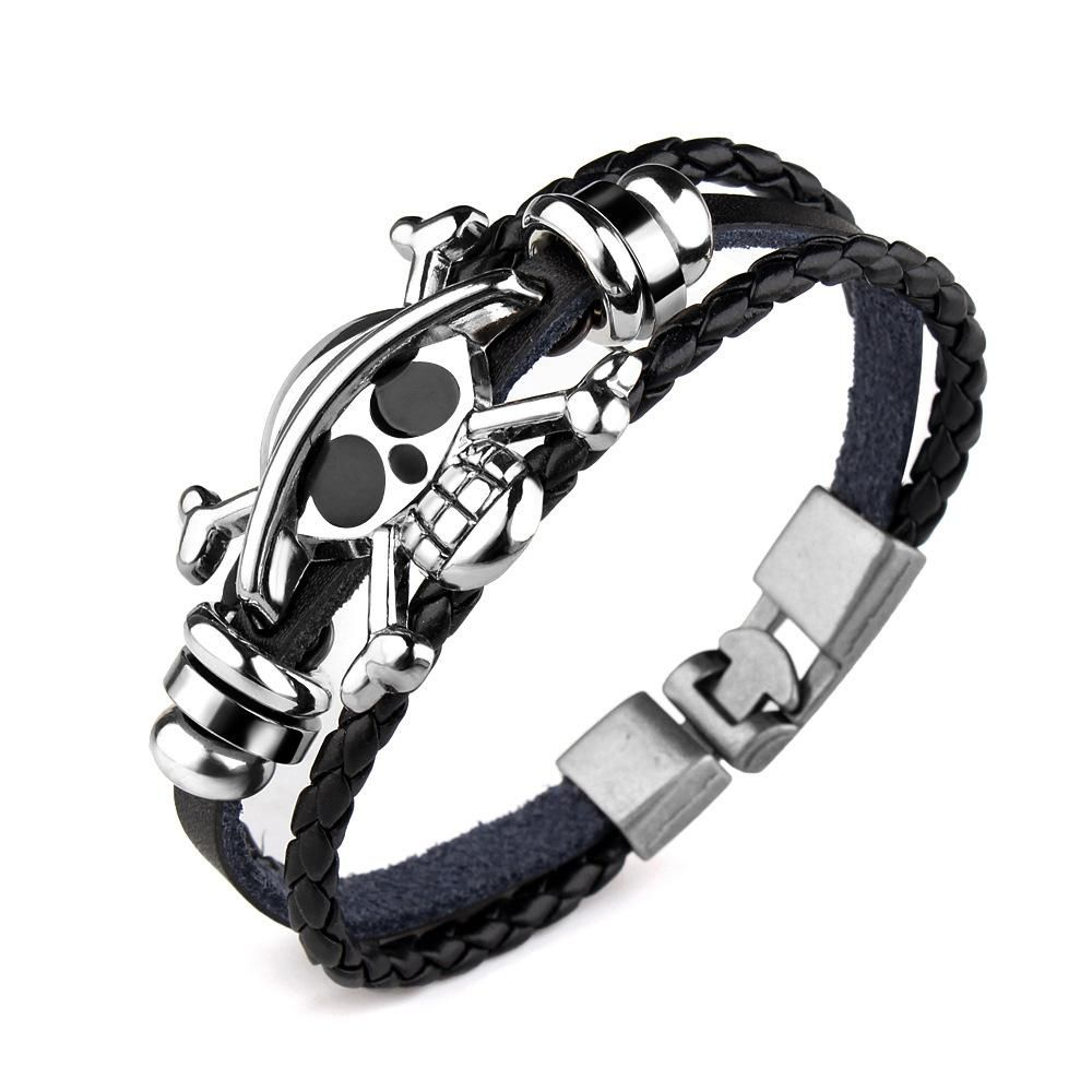 Viking pirate twisted stainless steel bangle jewelry pirate