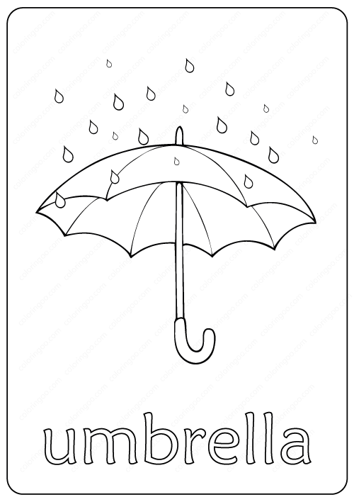 Printable Umbrella Coloring Page Book Pdf Umbrella Coloring Page Coloring Pages Umbrella
