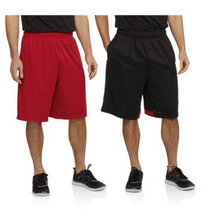 AND1 Men's 2 Pack Basketball Shorts, Size: Small, Black