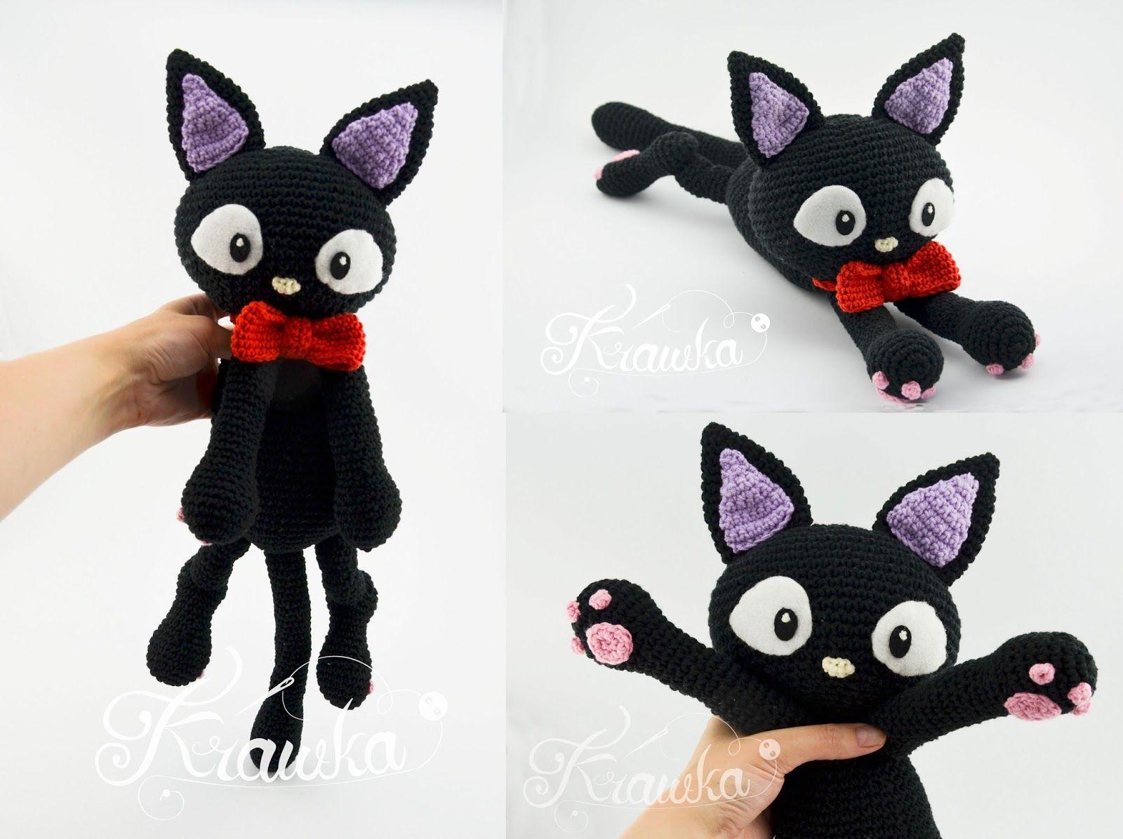 Krawka: Jiji the black cat pattern by Krawka - Kiki delivery service ...
