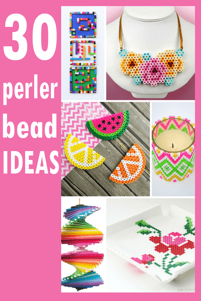 A Roundup Of 30 Amazing Perler Bead Ideas Crafts Home Decor