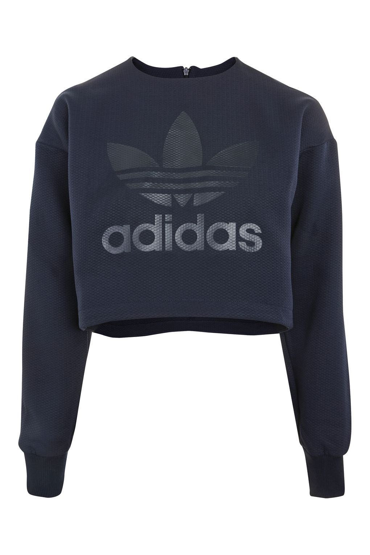 Crop Sweatshirt By Adidas Originals In 2019 Sweatshirts Cropped Jumper Outfit Sweatshirt Outfit [ 1530 x 1020 Pixel ]