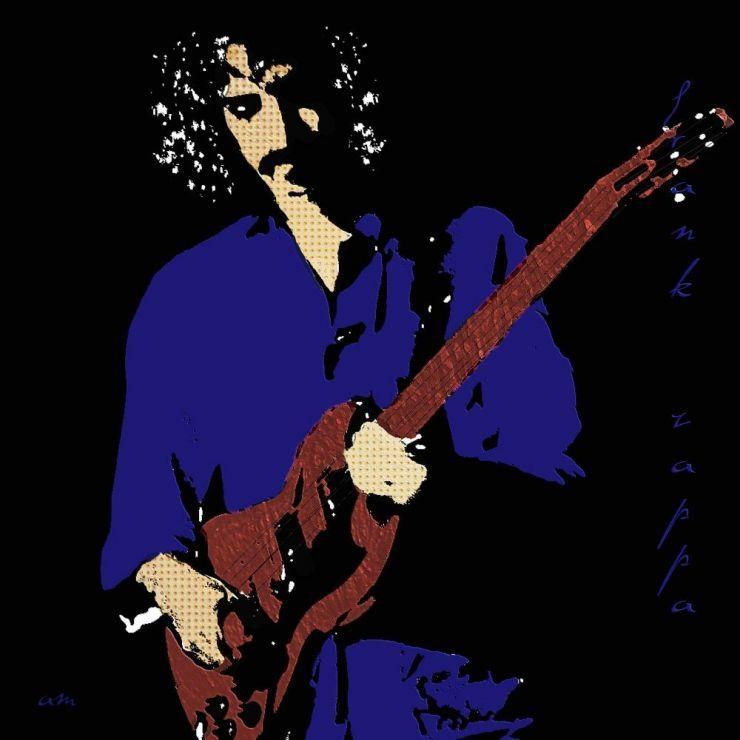 """Tableau """"Frank Zappa pop art"""" par sudpastel"""