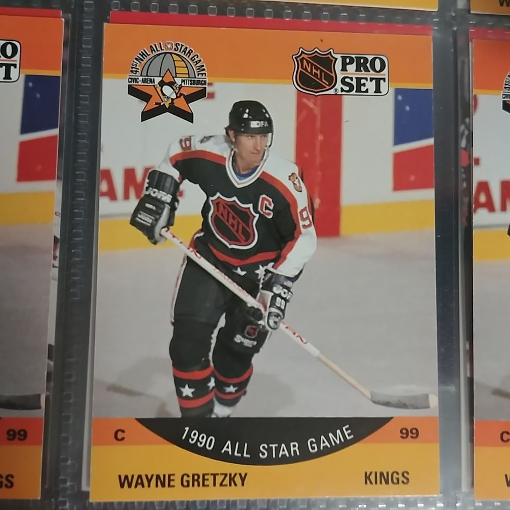 Wayne Gretzky 1990 All Star Game Hockey Card 340 In Protective Plastic Sleeve Losangeleskings Hockey Cards Wayne Gretzky All Star