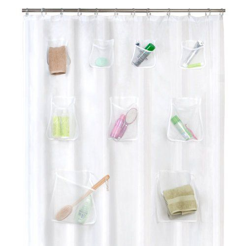 Maytex Mesh Pockets Peva Shower Curtain Clear 70 X 72 Inhttps Gorgeous Clear Bathroom Accessories Inspiration