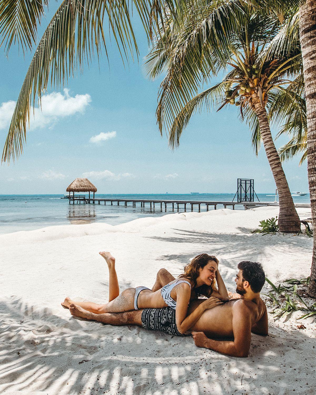 @katerinastavreva #tropical #couple #love #palms #mexico #caribbean