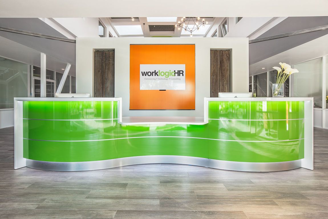 Curved Modern Reception Desks Modern office reception