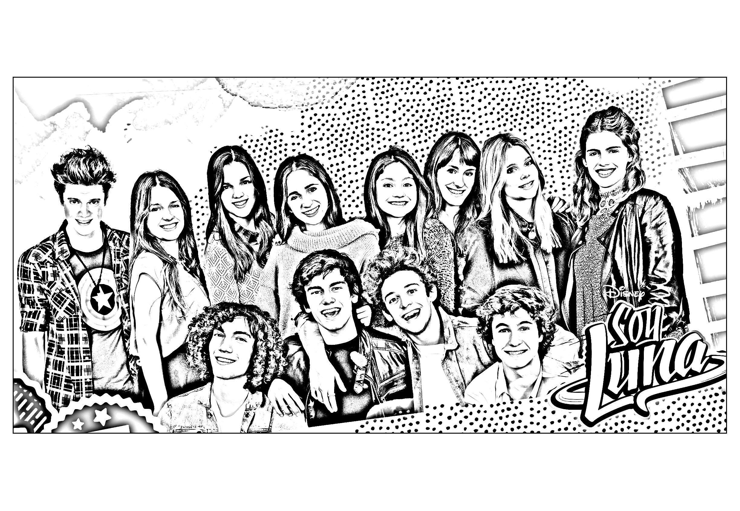 19 Coloriage Imprimer Soy Luna  Coloring pages, Free printable