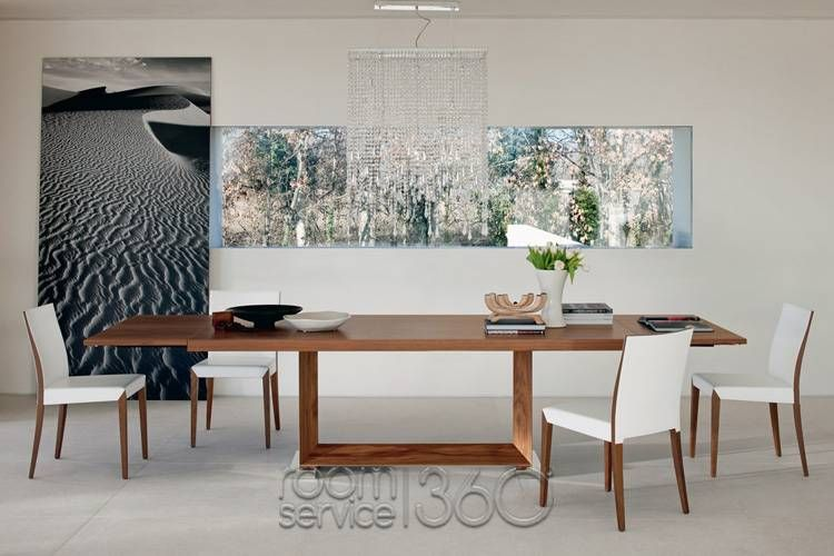 Boasting With Modern Style Elements Monaco Drive Extension Dining Table By Cattelan Italia Combines Aesthetics And Performance