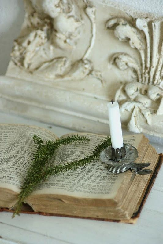 Candle and Bible, love this