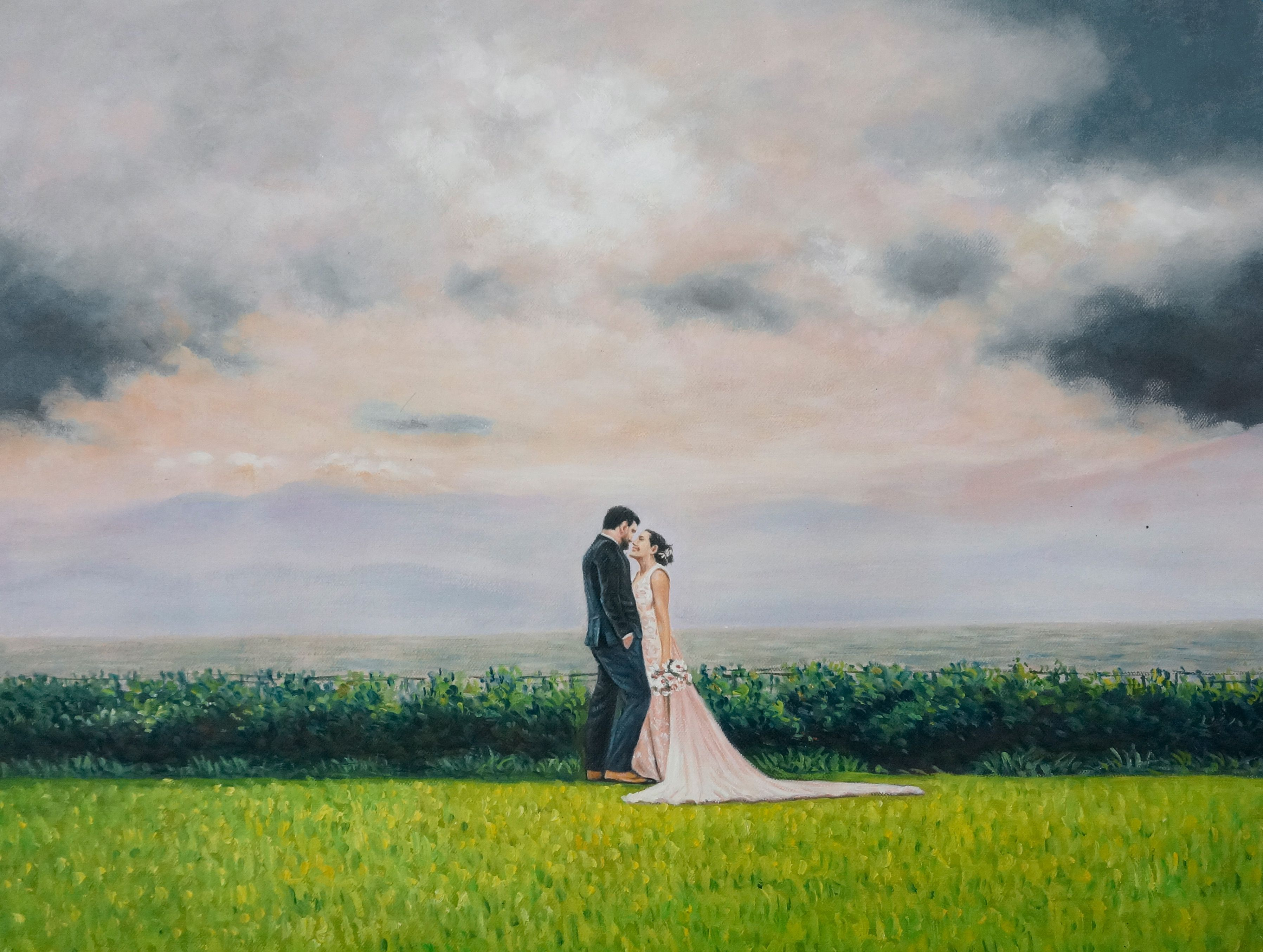 A Touching Wedding Gift For Niky And Jose Enjoy This Impressionism Painting Give Your Spouse Squeeze