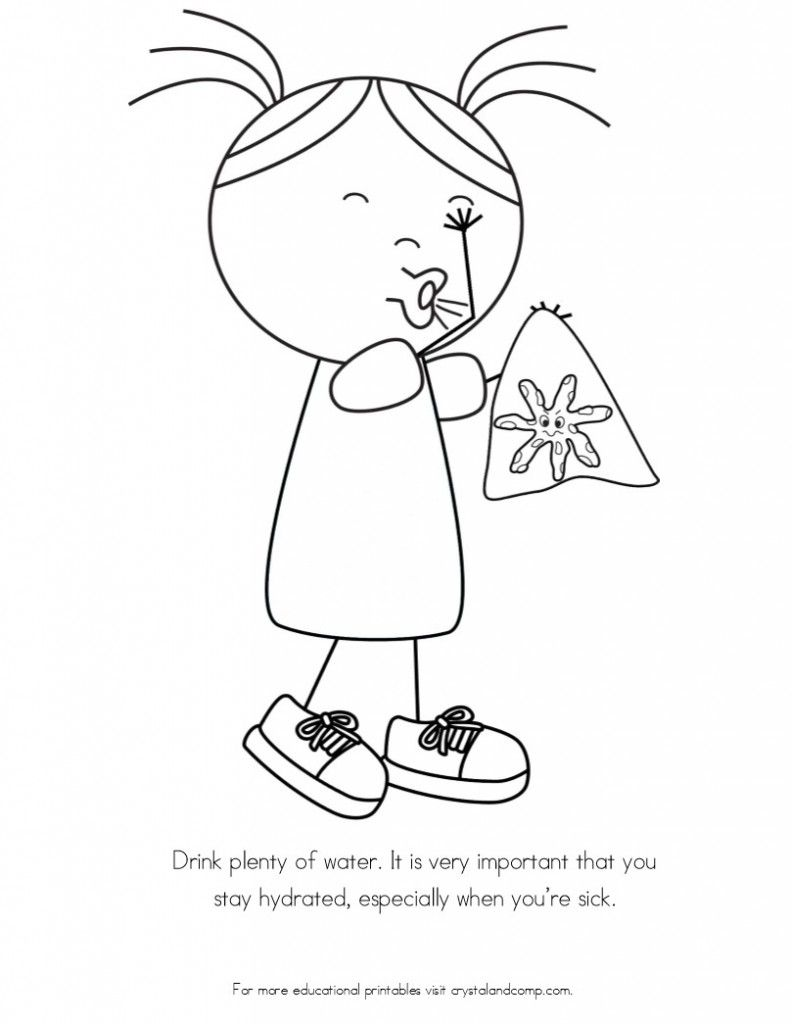 No More Spreading Germs Coloring Pages for Kids | After School ...