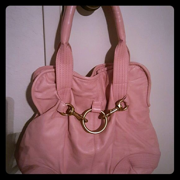 Morgan Oakley Leather Ditch Handbag Soft Ery Pink Tote Style Hard To Find Beautiful On Your Arm Brass Hardware Needs Be Polished