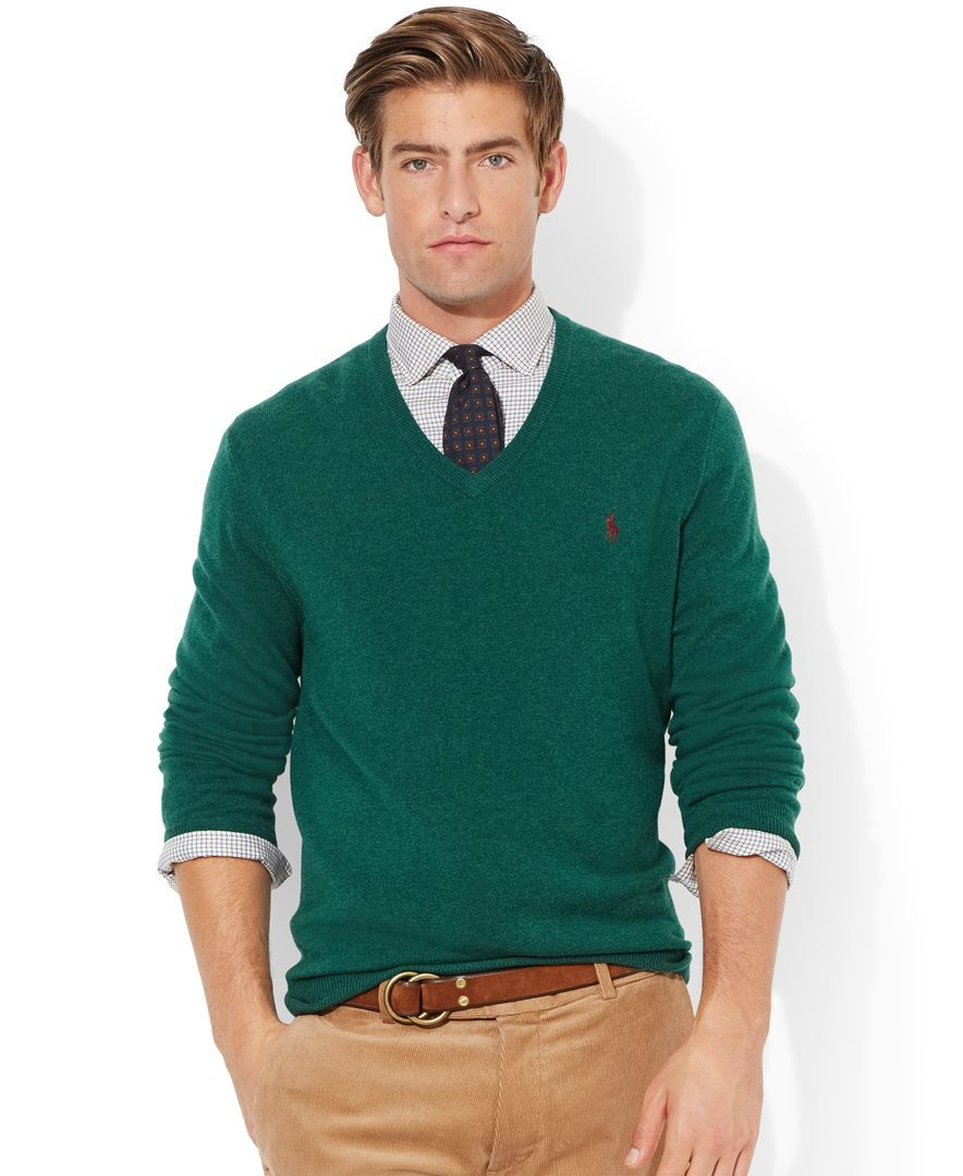 Polo Ralph Lauren Loryelle Merino Wool V-Neck Sweater