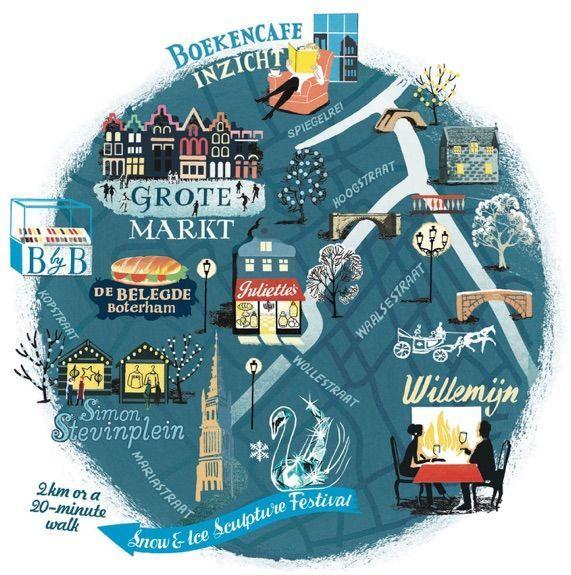 Map of Bruges Belgium via cartographicorguk Illustrated Maps