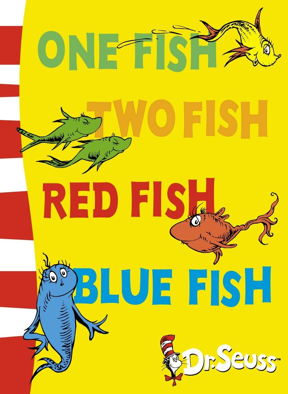 Dr Seuss Fish Template One Fish Two Fish Red Fish Blue Fish By