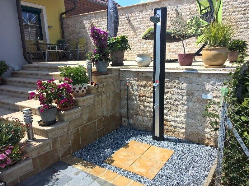 Dusche Garten Solar Sichtschutz. die besten 25+ solardusche ideen ...