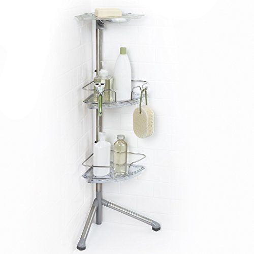 Bathroom Standing Shower Corner Caddy Stainless Steel Adjustable ...
