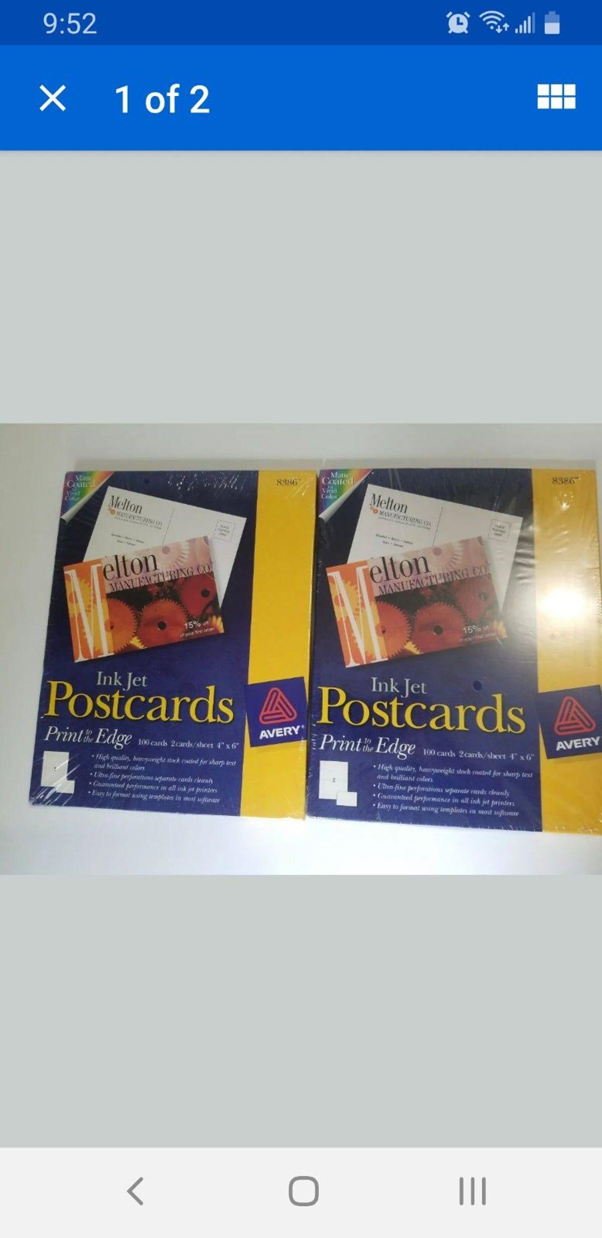 Avery inkjet postcards 2100 4x6 on mercari in 2020