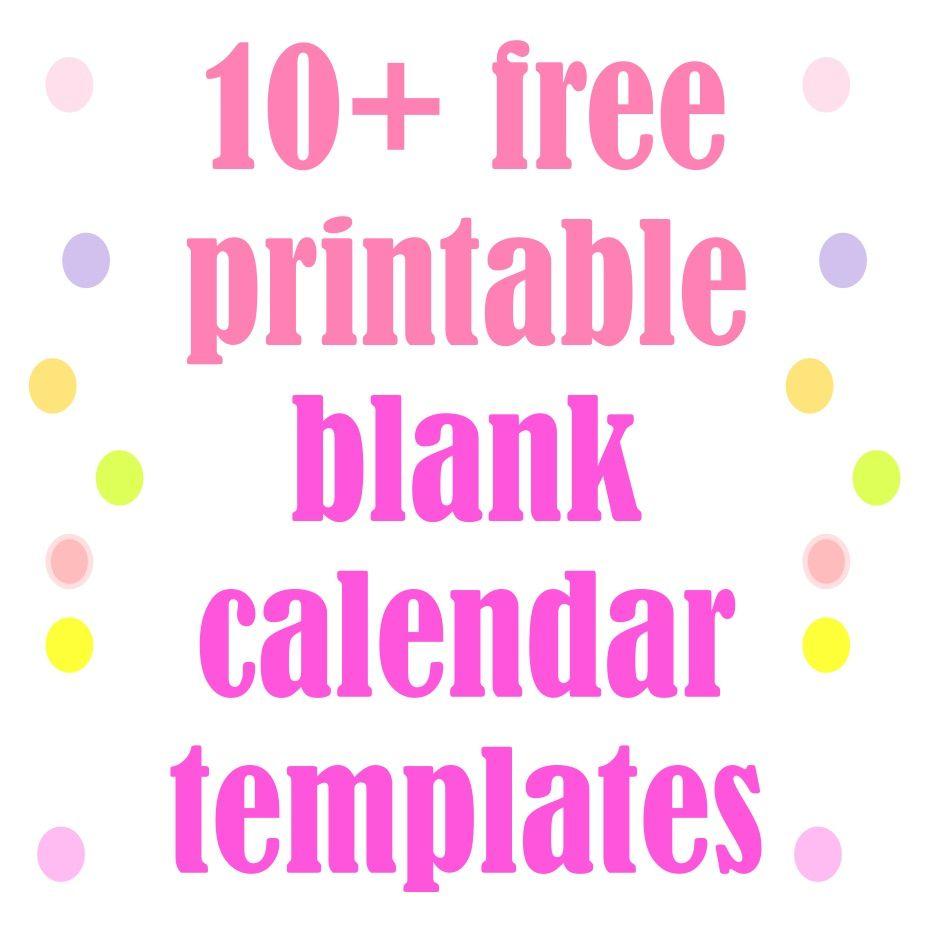 Free Printable Blank Calendar Templates  Kalender Zum Selbst