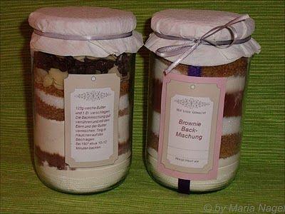 Selbstgemachte Backmischungen Geschenke aus der Küche - selbstgemachte geschenke aus der k che