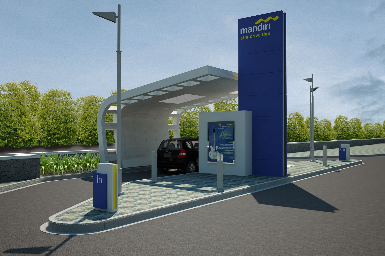Gas Station With Drive Thru Car Wash