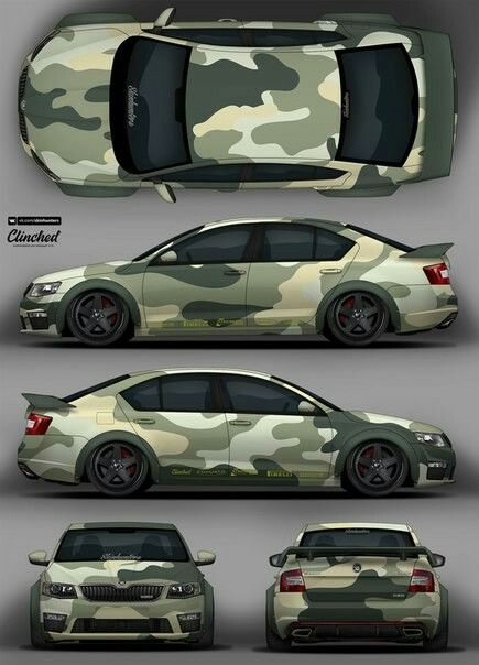 camo skoda octavia livery 2d designs folierung. Black Bedroom Furniture Sets. Home Design Ideas