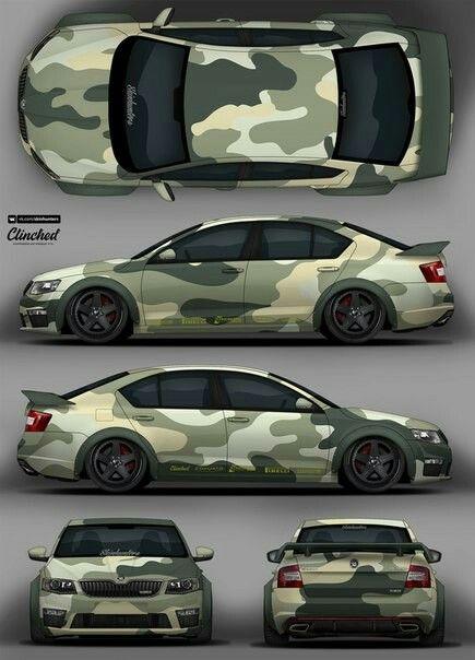 camo skoda octavia livery 2d designs pinterest voitures camouflage et courses. Black Bedroom Furniture Sets. Home Design Ideas